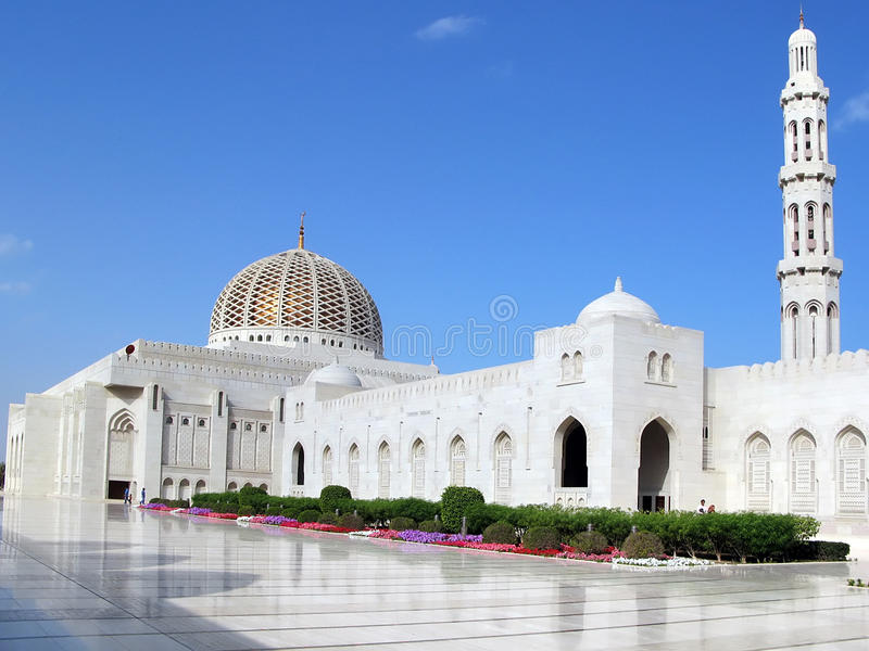 Al Qubrah Mosque in Muscat Oman royalty free stock photo