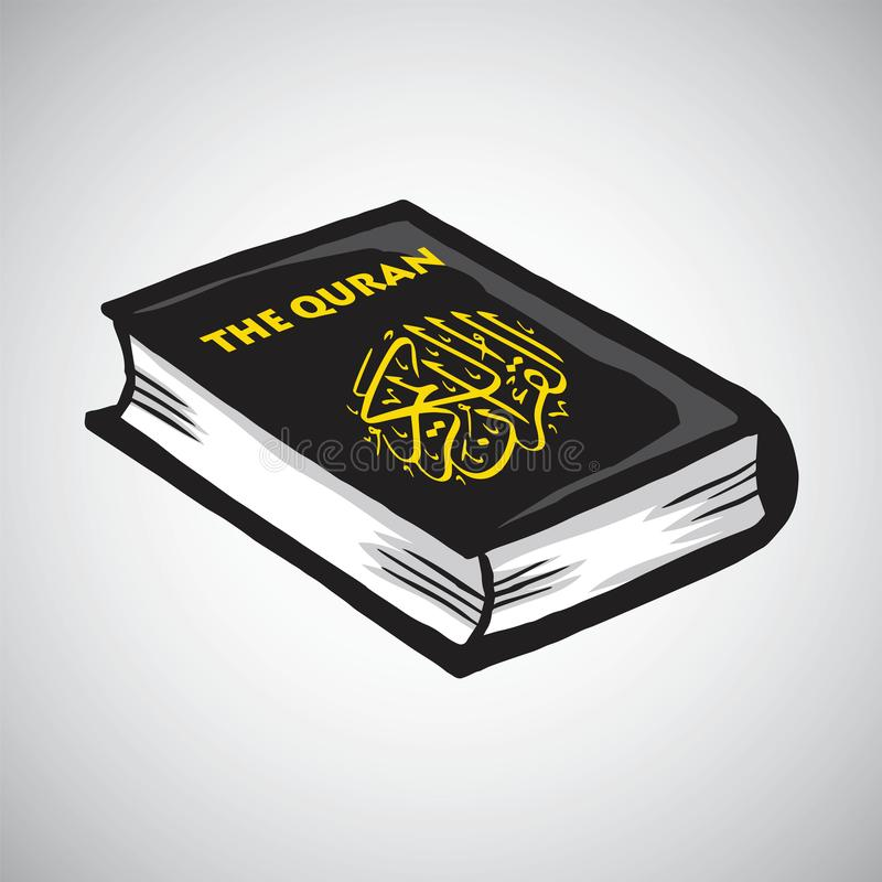 Al Quran Holy Book do desenho do vetor dos muçulmanos ilustração do vetor