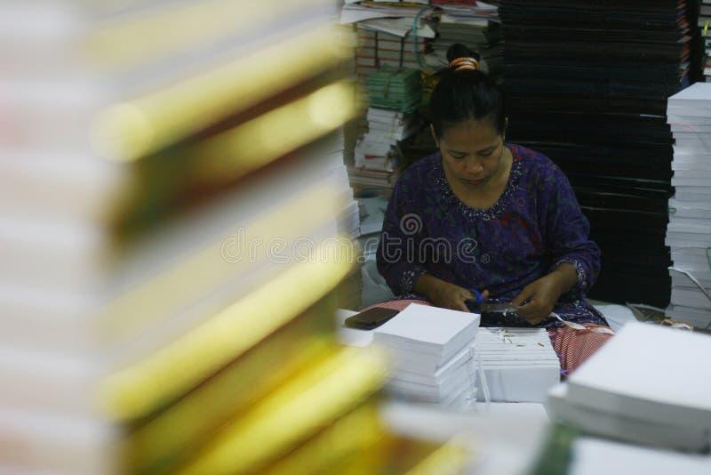 Al Quran Production In Indonesia fotografía de archivo libre de regalías