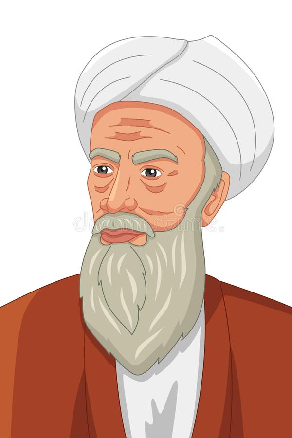 Al-Razi Muslim Philosopher Illustration vector illustratie