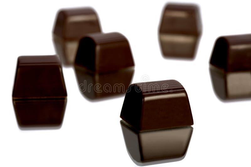 Al revés Deriva del chocolate fotografía de archivo libre de regalías