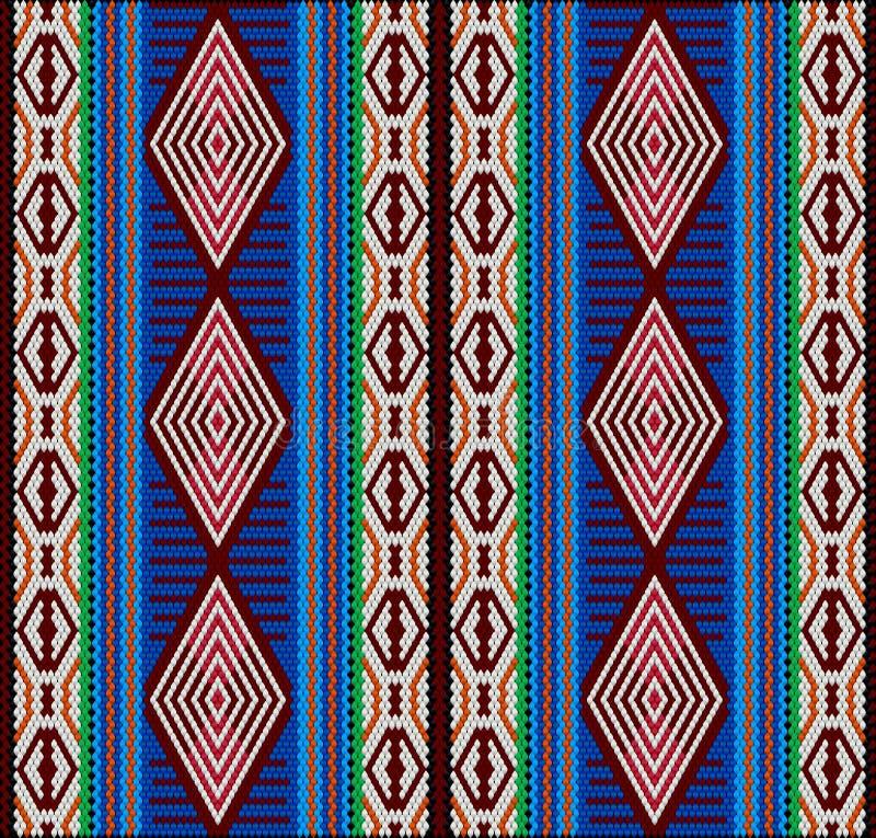 Al Sadu традиционная форма вышивки, сплетенная женщинами бедуина вручную иллюстрация вектора