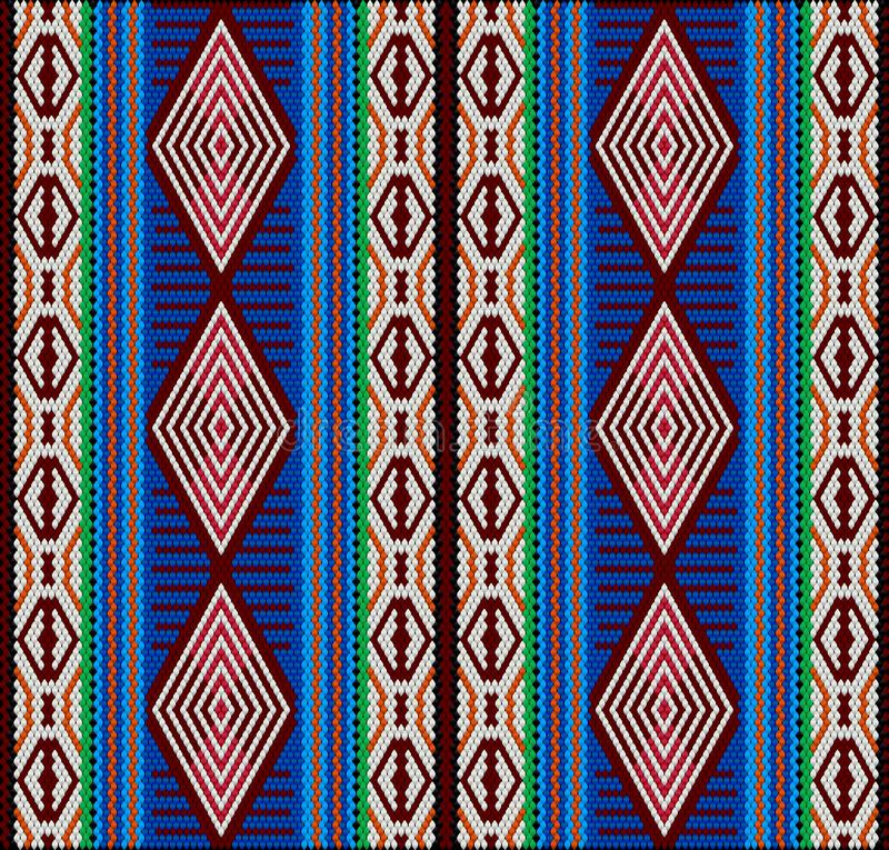 Al Sadu is a traditional form of embroidery, woven by Bedouin women by hand. Al-Sadu weaving is a traditional form of embroidery woven by Bedouin women by hand stock illustration