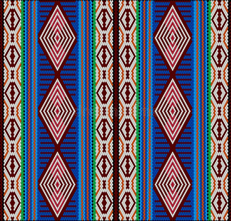 Al Sadu is a traditional form of embroidery, woven by Bedouin women by hand. Al-Sadu weaving is a traditional form of embroidery woven by Bedouin women by hand vector illustration