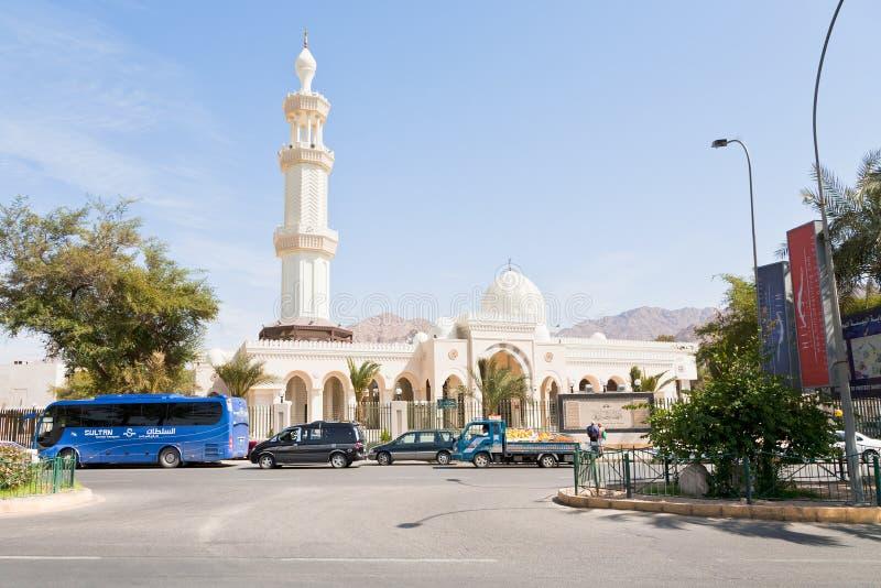 Al-Sharif Al Hussein Bin Ali Mosque in Aqaba stock images