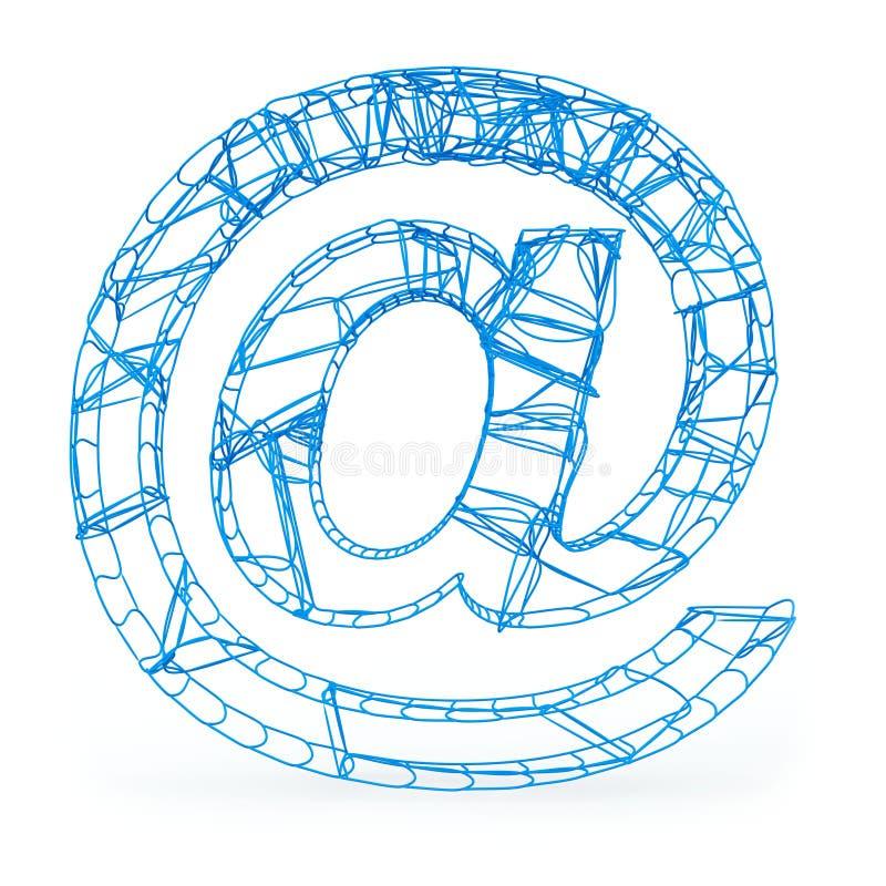 Al simbolo del email illustrazione di stock