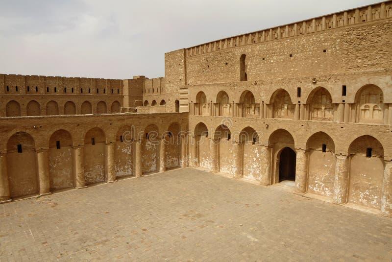 Al Ukhaidar fortress, Iraq. Al Ukhaidar desert fortress near Karbala in Iraq stock images