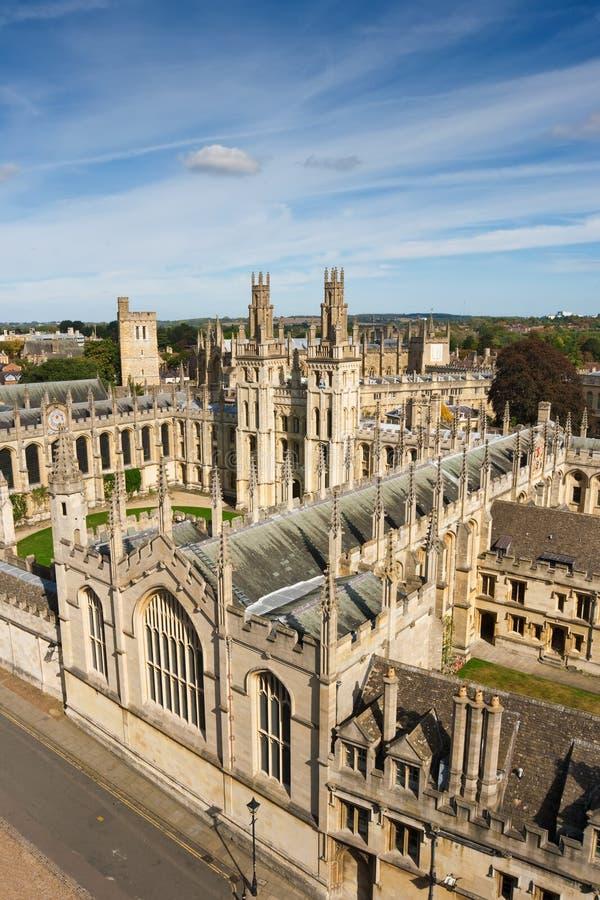 Al Universiteit van Zielen. Oxford, Engeland stock afbeeldingen