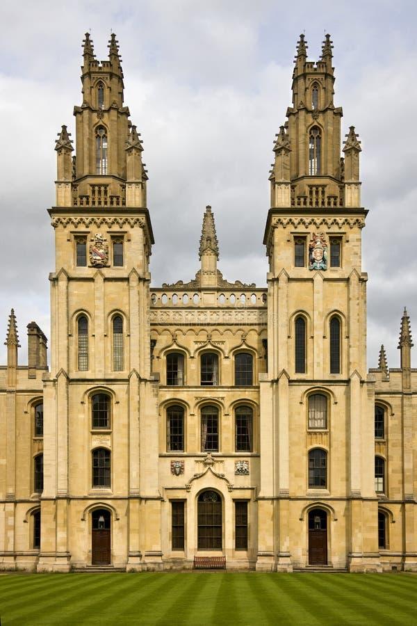 Al Universiteit van Zielen - Oxford - Engeland royalty-vrije stock foto's