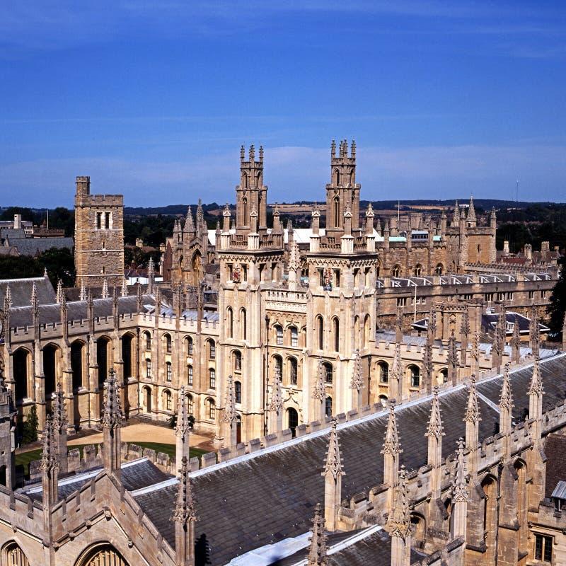 Al Universiteit van Zielen, Oxford, Engeland. royalty-vrije stock afbeelding