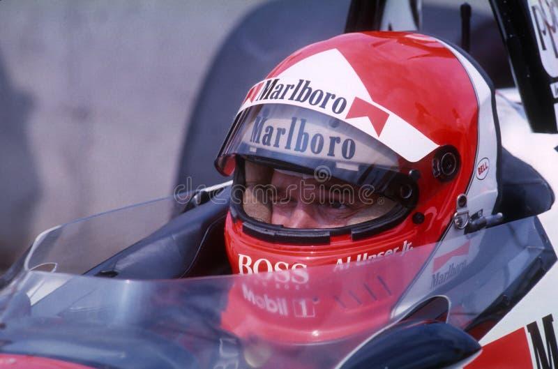 Al Unser jr Indy kierowca zdjęcie royalty free