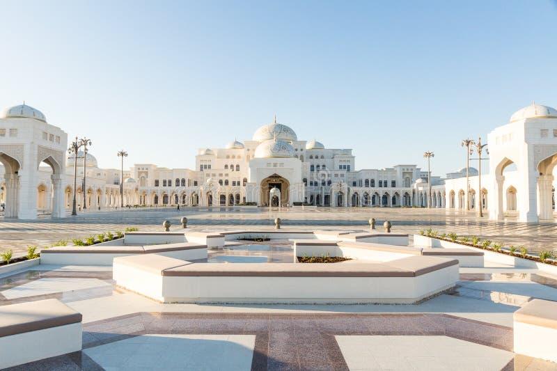 Al Watan Qasr, дворец ОАЭ президентский, Абу-Даби стоковое изображение rf