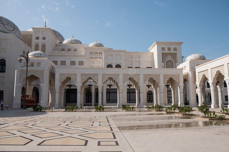 Al Watan Qasr, дворец ОАЭ президентский, Абу-Даби стоковая фотография rf