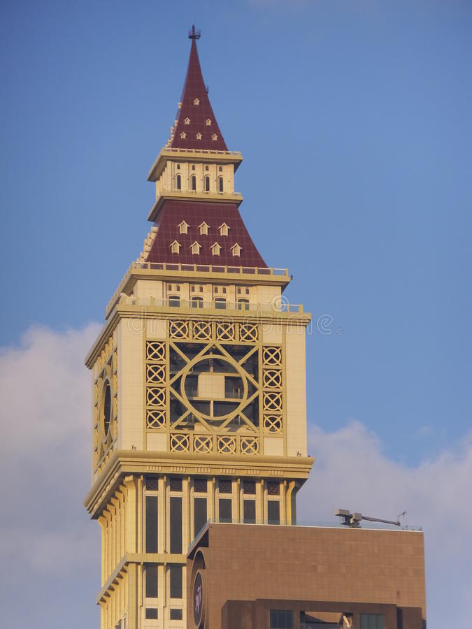 Al Yaqoub Tower em Dubai, UAE imagens de stock royalty free