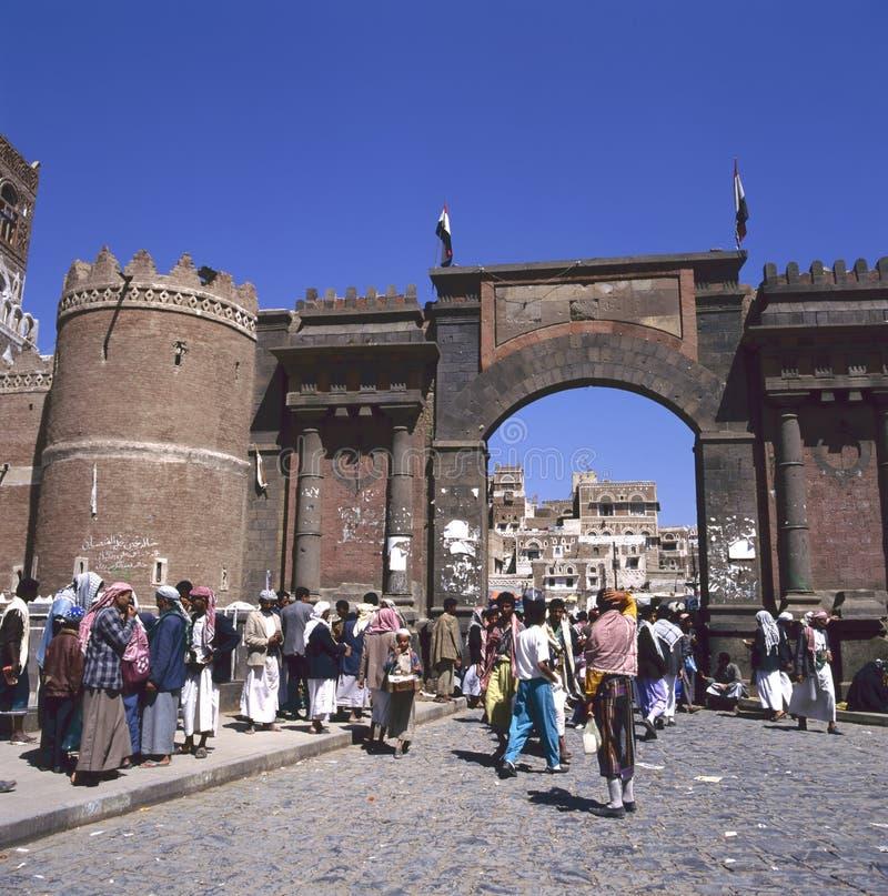 Al Yemen, Sana'a di Bab immagini stock