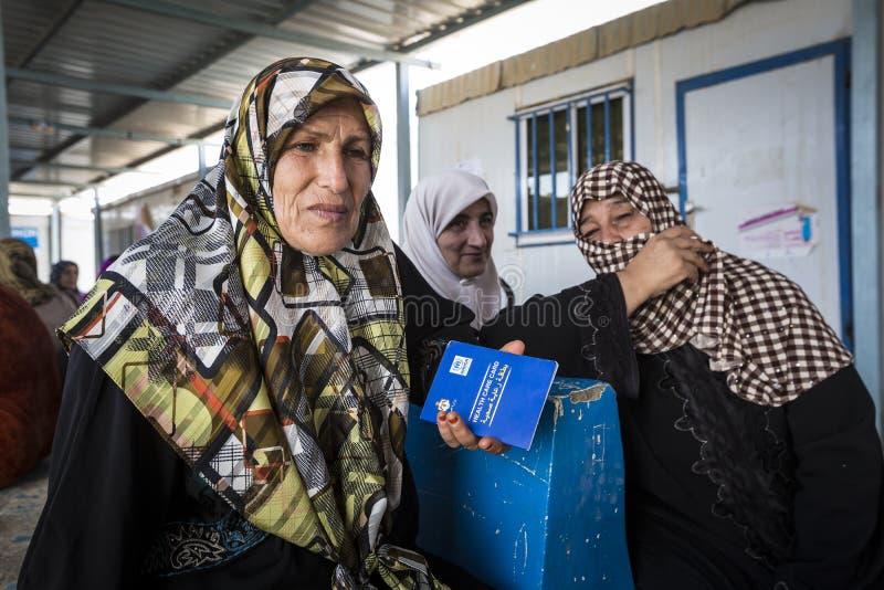 Al Zaatari flyktingläger royaltyfri bild