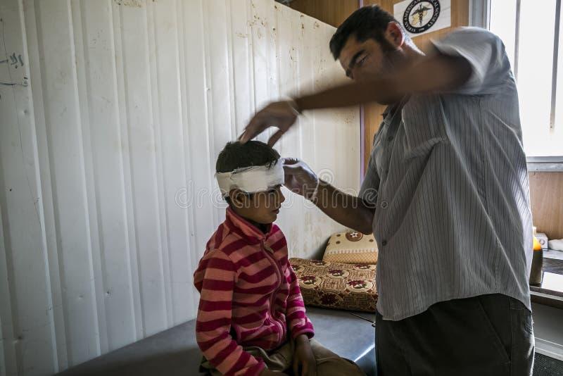Al Zaatari obóz uchodźców obraz royalty free