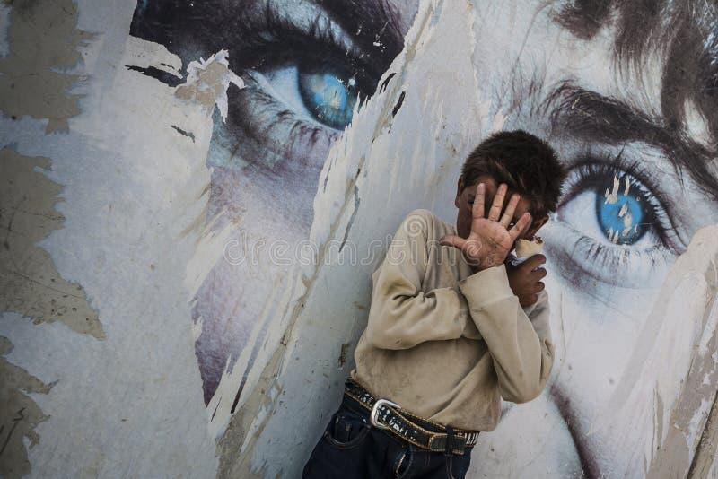 Al Zaatari obóz uchodźców obrazy royalty free