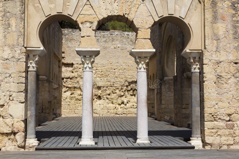 Al-Zahra de Madinat, complexo arqueológico medieval, Córdova imagens de stock