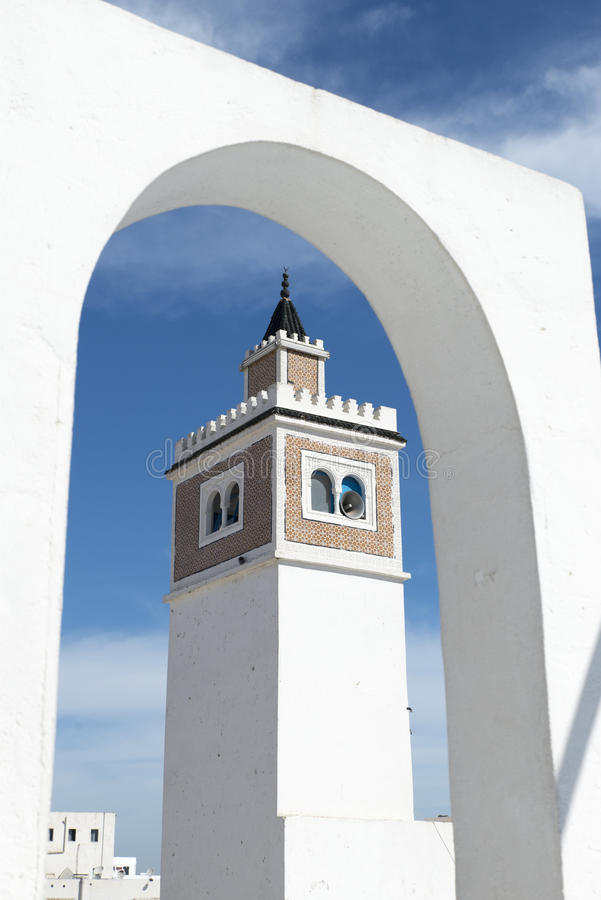 Al-Zaytuna Moskee, Tunis royalty-vrije stock afbeelding