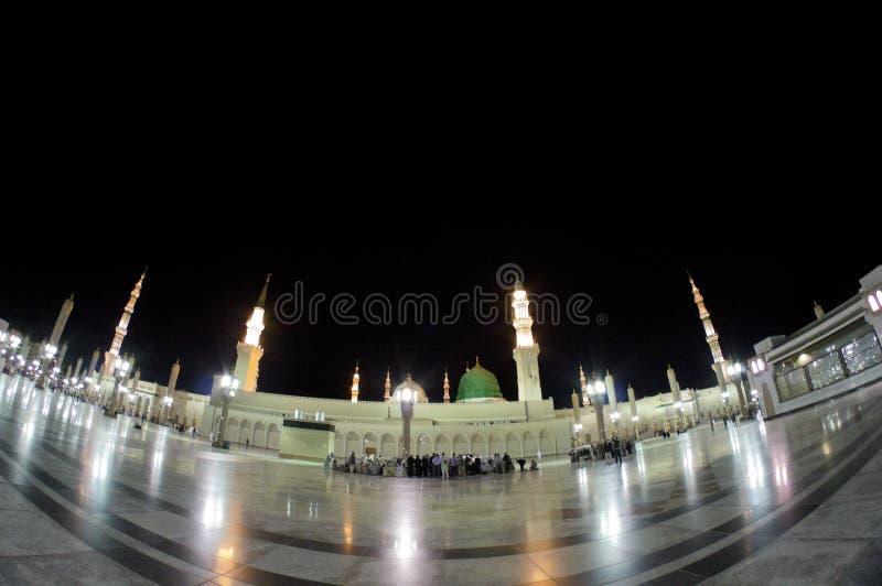 al zewnętrzny masjid medina meczetu nabawi fotografia stock