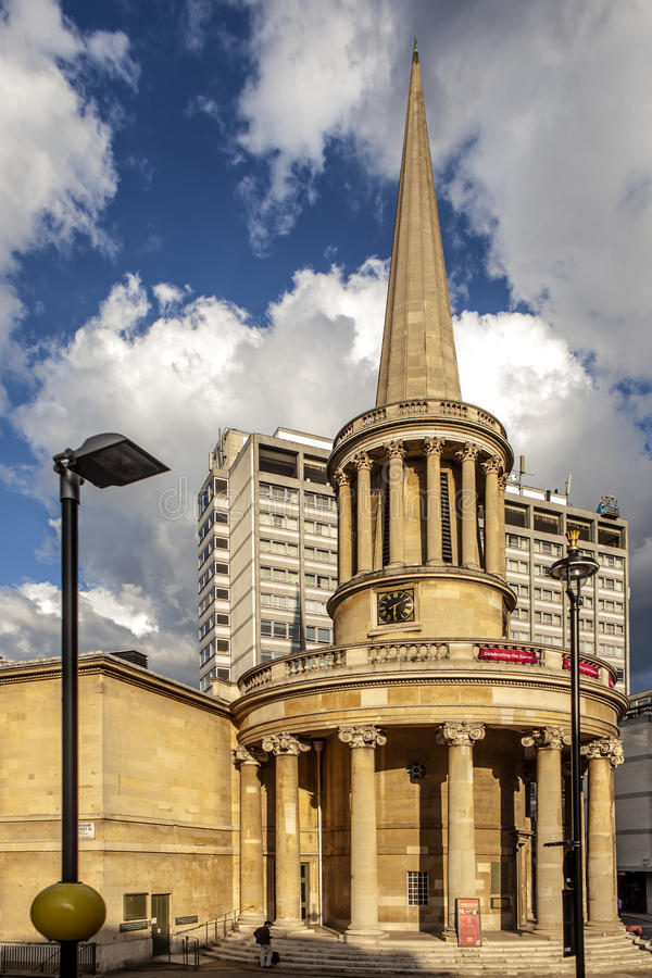 Al Zielen Anglicaanse Kerk, Londen stock foto