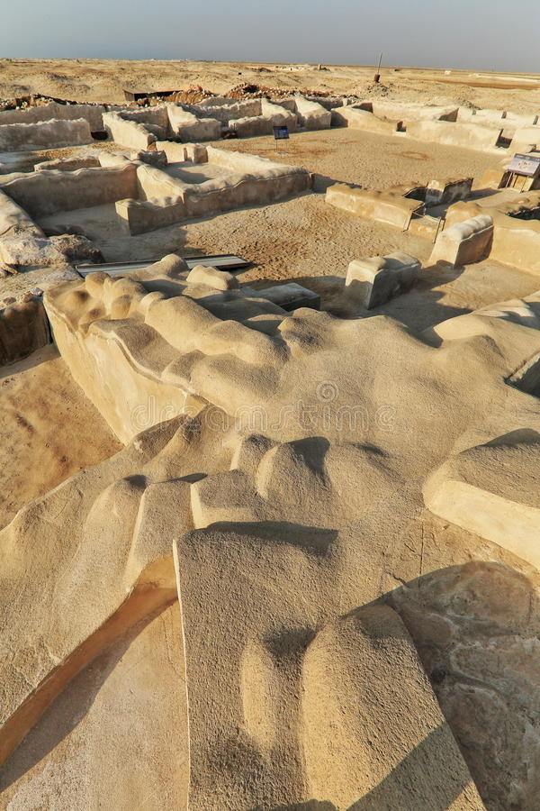 Al Zubarah Archaeological Site royalty free stock photography