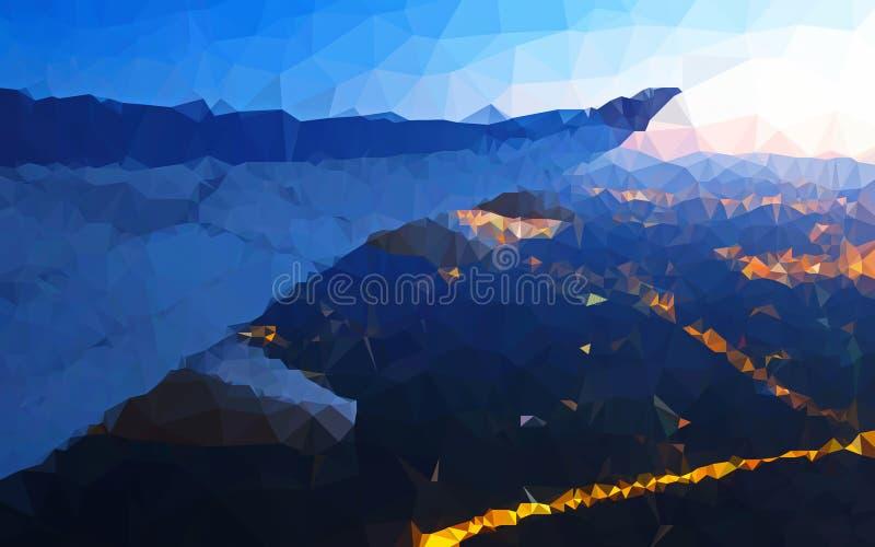 Ala baja abstracta del polígono del papel pintado airplant fotos de archivo libres de regalías