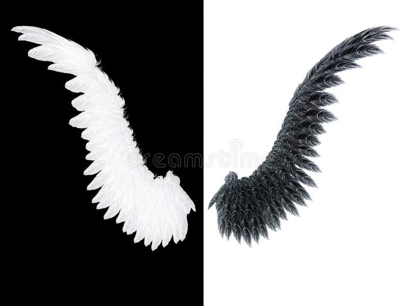 Ala bianca e nera royalty illustrazione gratis