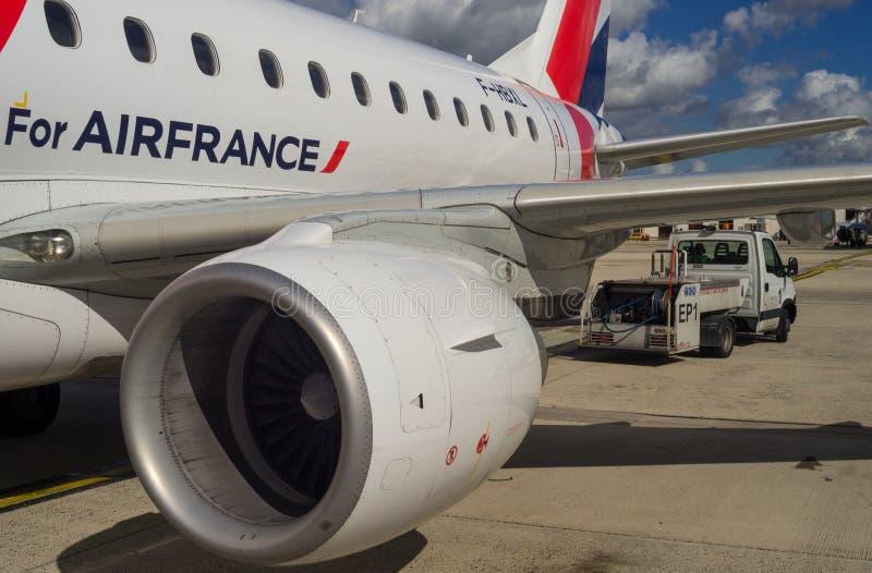 Ala de la turbina del motor del aeroplano imagen de archivo