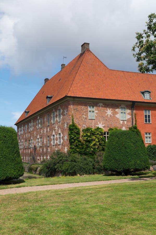 Ala del castello di Krapperup fotografia stock