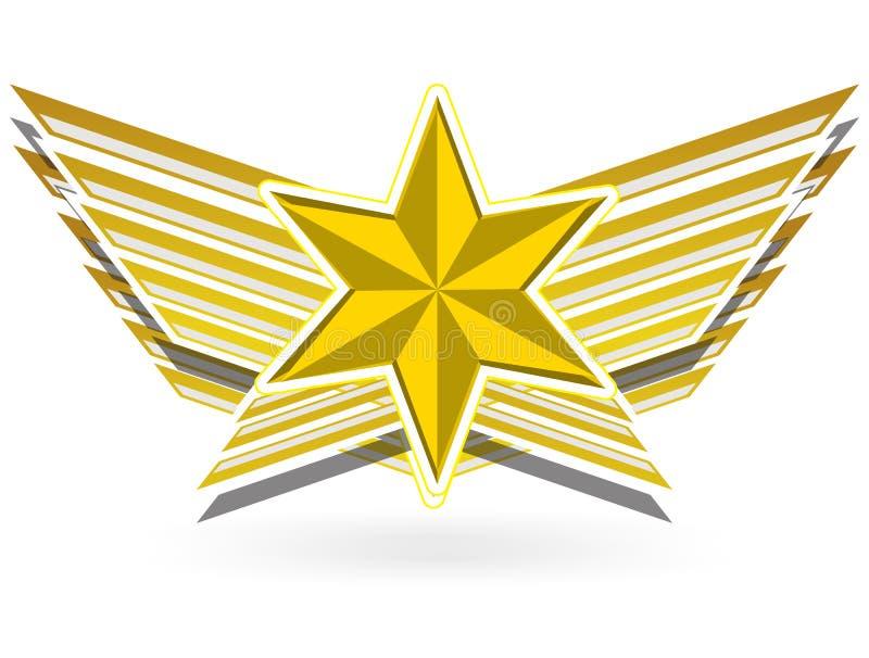 Ala della stella dell'oro royalty illustrazione gratis