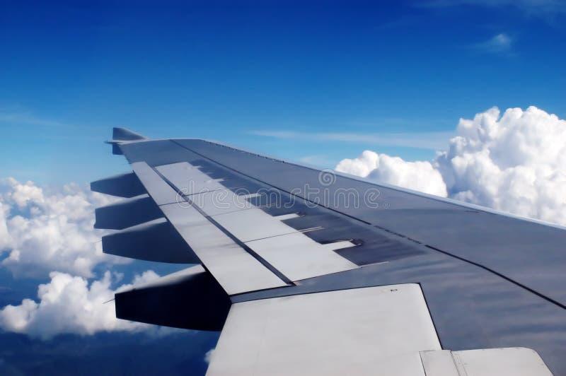 Ala di aereo immagini stock