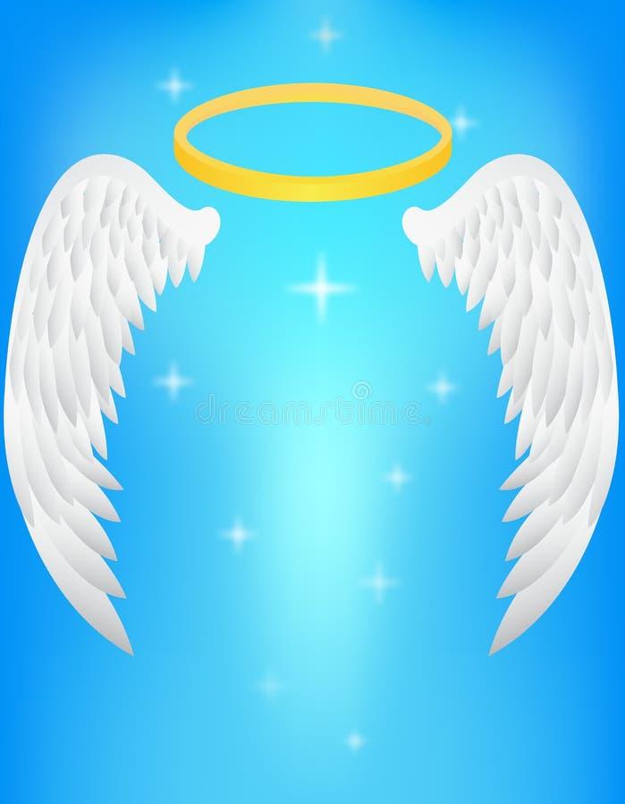 Ala di angelo illustrazione vettoriale