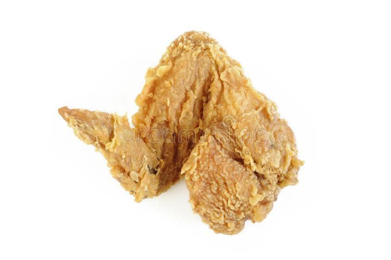Ala di pollo fritto fotografia stock