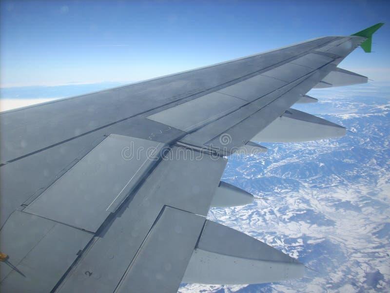 Ala di un aeroplano immagine stock