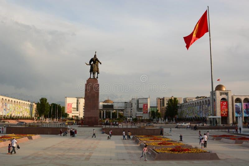 Ala Too square. Bishkek. Kyrgyzstan royalty free stock image