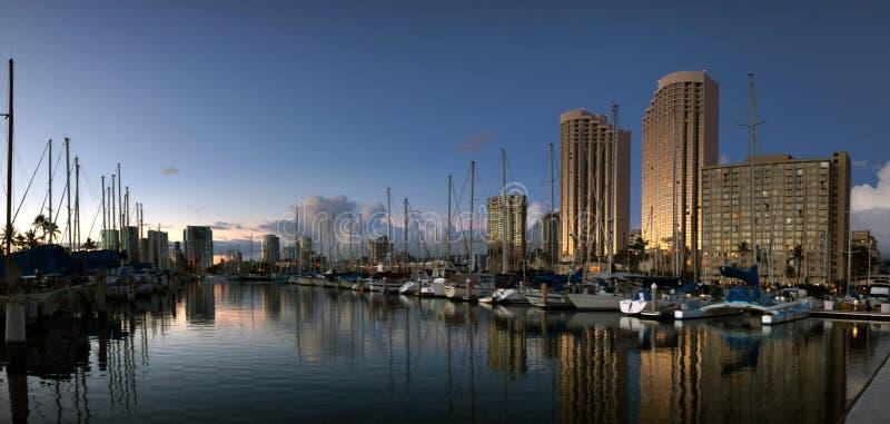 Ala Wai Harbour Honolulu. stock image
