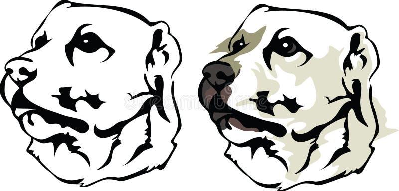 Alabai - Środkowy Azjatycki Pasterski pies ilustracji