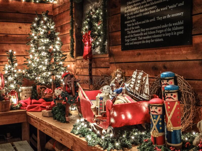Alabama, Christmas, Decorations, Huntsville stock photos