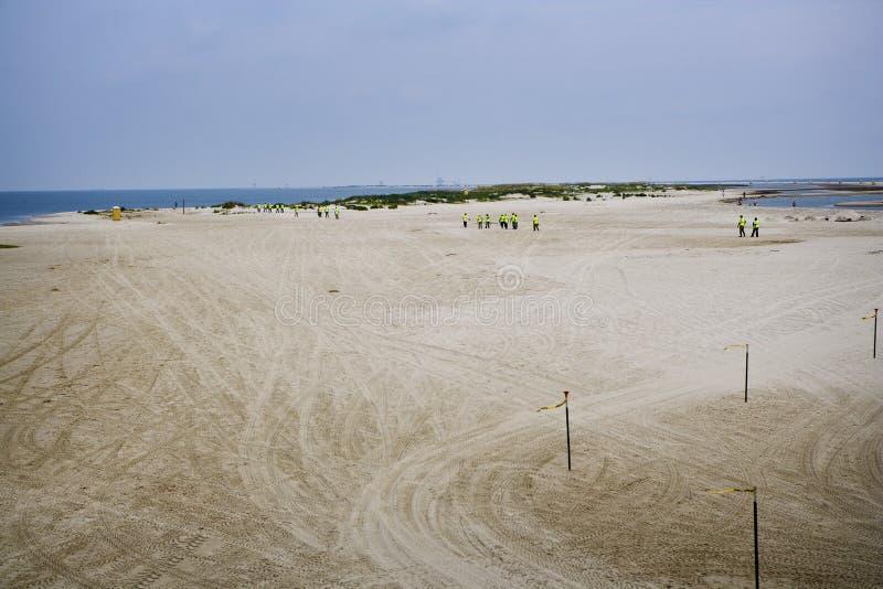 alabama dauphin wyspy wyciek ropy pracownicy zdjęcie royalty free