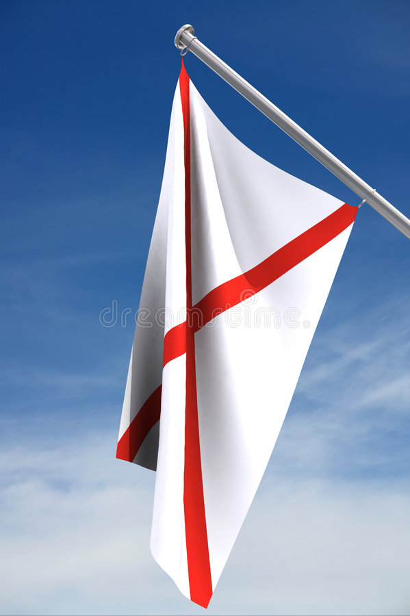 Alabama Flag. With clipping path stock illustration
