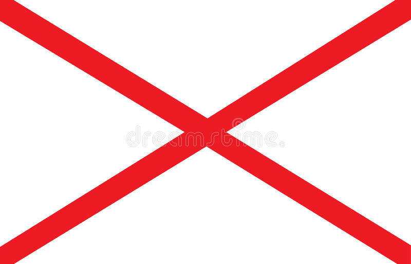 Alabama flag. State of Alabama vector flag illustration stock illustration