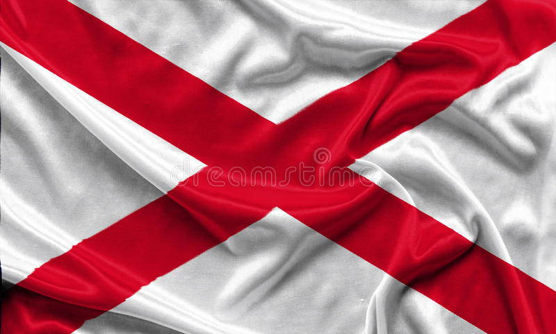 Alabama Flag - Crumpled fabric background, wallpapers royalty free stock photos