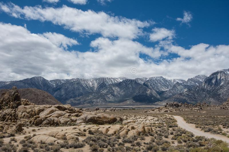 Alabama Hills in Lone Pine California, famous movie filming location for Western classic movies.  stock photos
