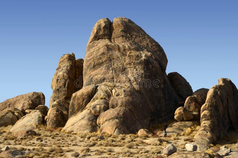 Alabama Hills Rock Formation stock images