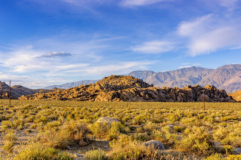 Alabama Hills, Sierra Nevada stock photography