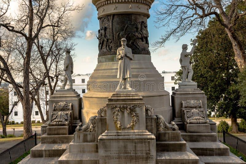 Alabama konfederata zabytek obrazy royalty free