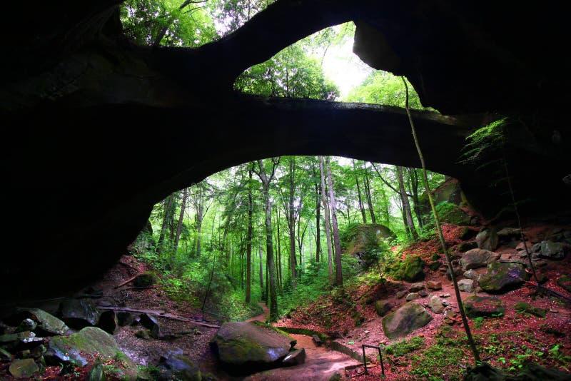 Alabama Natural Rock Bridge stock photos