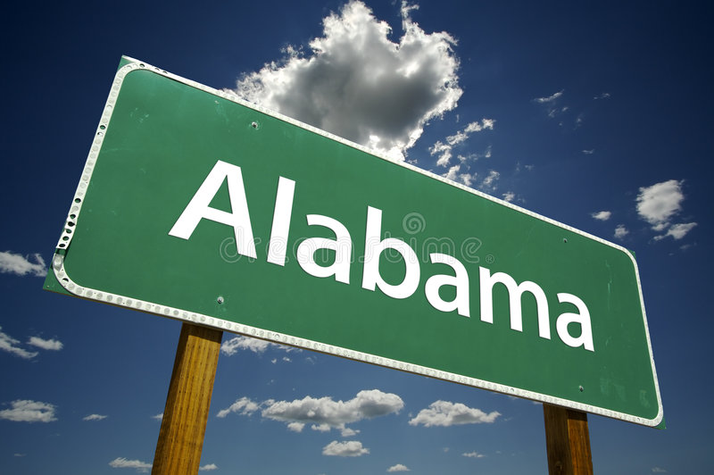 Alabama Road Sign royalty free stock photos
